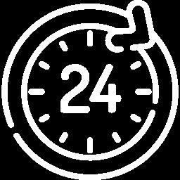 24 hour white icon